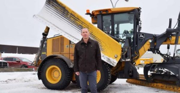 Blake McIntosh, the city's manager of City Roads and Fleet, says city crews are ready for an expected heavy snowfall this weekend. Bill Phillips photo