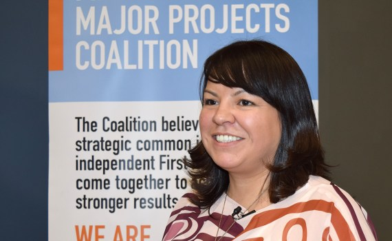 First Nations Major Projects Coalition chair and Fort Nelson First Nation councillor Sharleen Gale. Bill Phillips photo