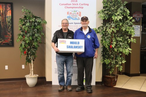 Prince George stick curlers Jamie Mould and Gary Shalansky. Submitted photo