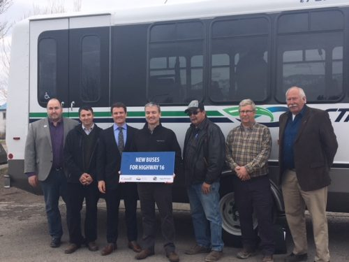 New Highway 16 buses unveiled in Burns Lake. BC Transit photo