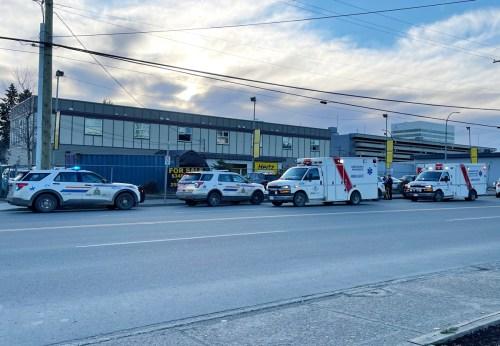 Emergency crews on First Avenue