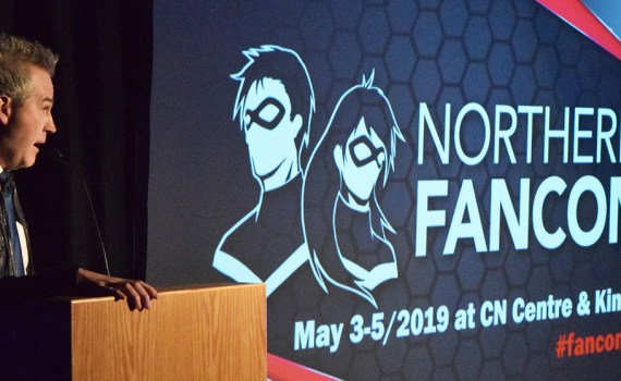 Norm Coyne unveils a new logo for next year's Northern Fancon and announces a few of the fan favourites who will be attending, including Alan Tudyk, who best known for his roles in Firefly and Star Wars: Rogue One. Bill Phillips photo