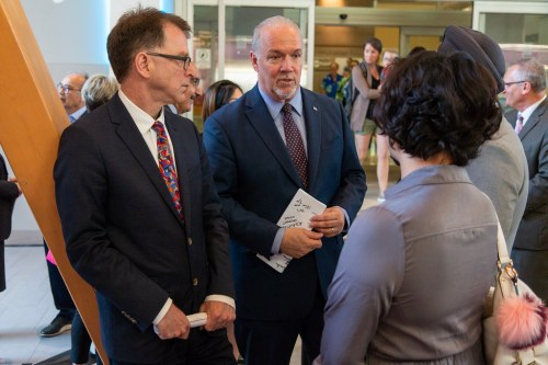 Premier John Horgan and Health Minister Adrian Dix announce health care changes. Government of B.C. photo