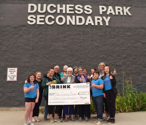 The Brink Group has donated $2,500 towards the Inside Ride. Bill Phillips photo