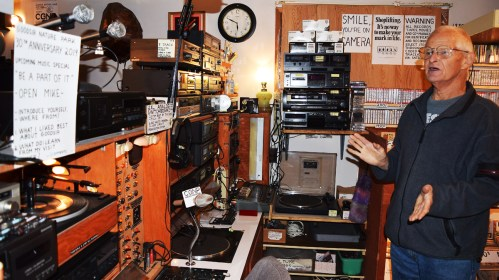 Jim Good's fully equipped radio station.