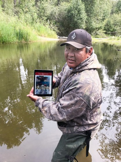 Keith West, Fisheries Program Coordinator at Takla Nation