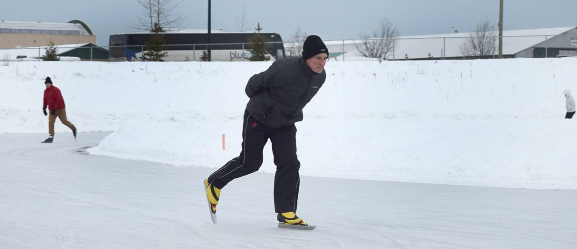 Brian Martinson gets some training in for the 32nd annual Prince George Iceman, set for February 10. Martinson has competed in every Iceman since it started in 1987. Bill Phillips photo