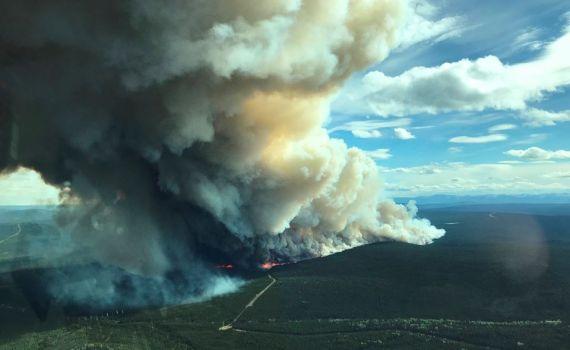 Kahta Creek fire northwest of Fort St. John. B.C. Wildfire Service photo