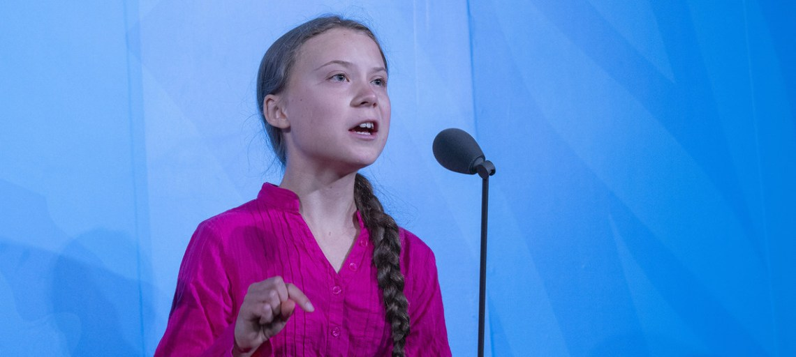 Swedish climate activist, Greta Thunberg , speaks at the opening of the UN Climate Action Summit 2019. UN Photo/Cia Pak