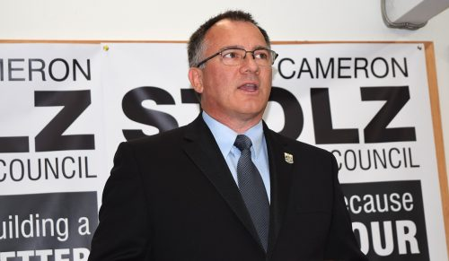 Cameron Stolz is hoping to bring a small business voice to city council. Bill Phillips photo