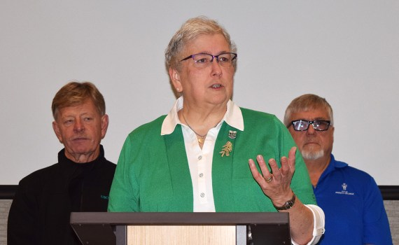 Susan Scott announces her intention to seek a second term on council. Bill Phillips photo