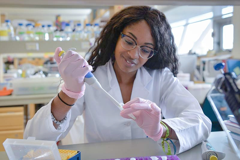 Fatimat Almentina Ramos Shidi is the first UNBC student to receive the Mitacs Globalink Research Award. UNBC photo