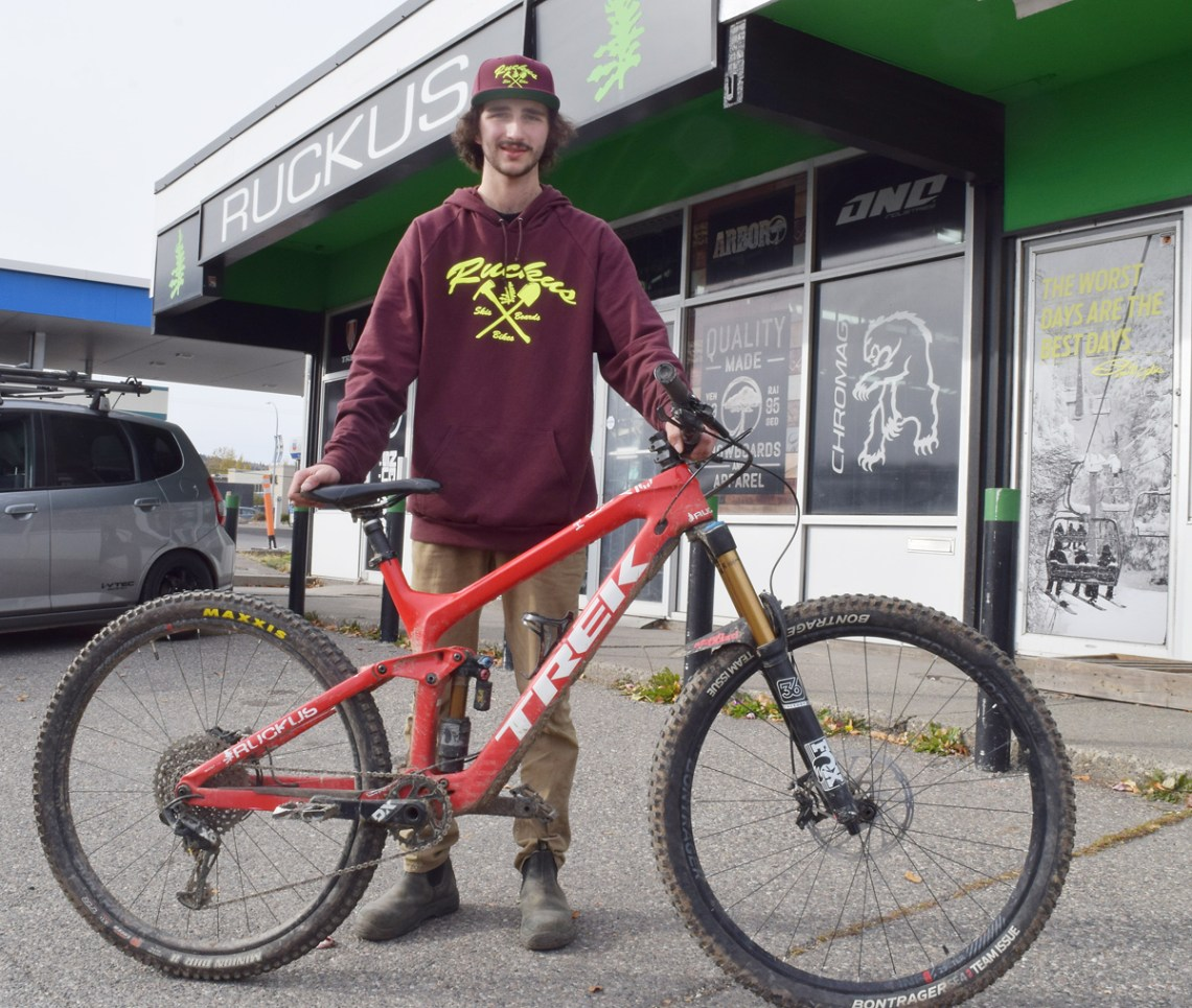 Mountain biker Spencer Coletti is setting his sights on a career in the sport. Bill Phillips photo