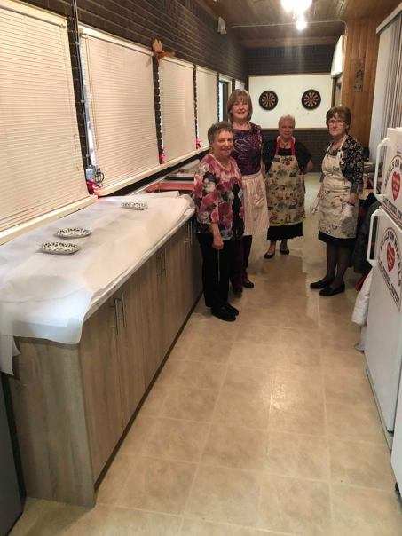 The Hart Pioneer Centre's brand new countertops and cupboards, donated by the Brink Group of Companies.