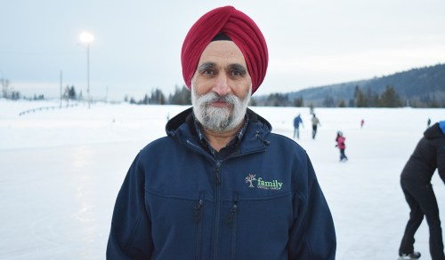 Surjit Minhas, who will be 70 this year, is competing in his second Prince George Iceman. Bill Phillips photo