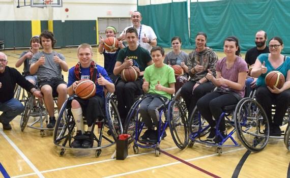 Prince George's wheelchair basketball athletes.