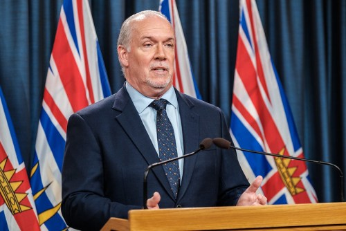Horgan addresses British Columbians following election win