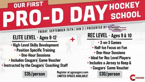 Cougars to hold Pro-D Day hockey school Sept. 25