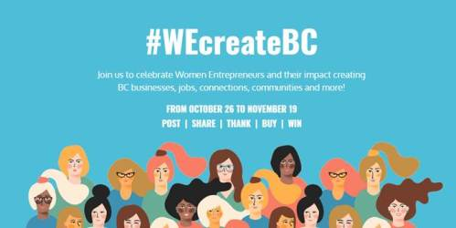 Celebrate B.C. women entrepreneurs with #WEcreateBC