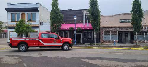 Fire damages downtown business