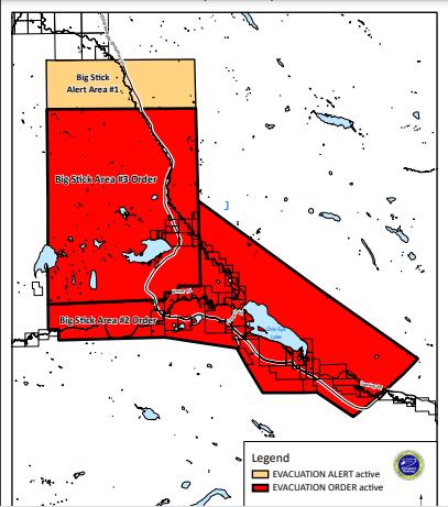 Evacuation order for Big Stick area in Chilcotin