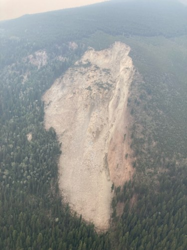 Evacuation alert remains in effect for Swift Creek slide area near Valemount