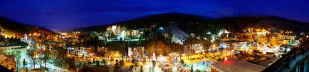 Nightime Panorama of Krynica