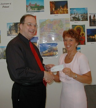 PGF Presents Grant to PolishFest