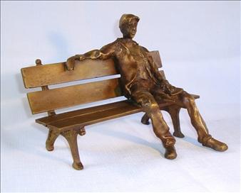 Reflection - Bronze by Alicja Cetnarowski