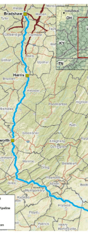 Mountain Valley Pipeline project Map