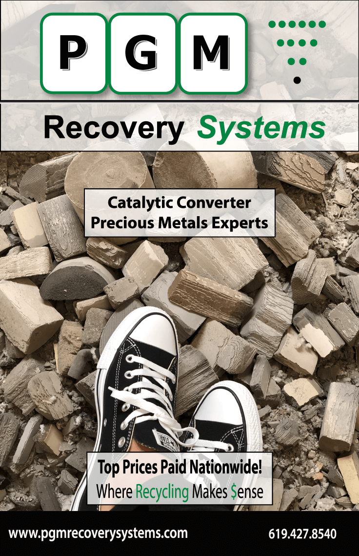 pgm recovery systems 2018 recycling pgm recovery systems
