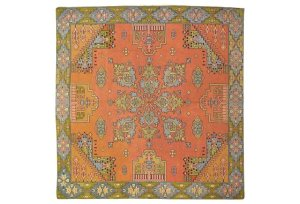 """Antique Silk Textile, size 5'3"""" x 4'10"""", up for Auction at the PGNY Black Friday Sale Event!"""