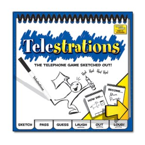 A great gift idea for families or seniors is Telestrations board game.