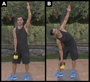How to workout abs doing the windmill.