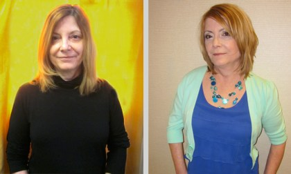 Beth before and after her mom makeover