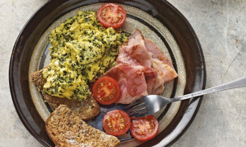 green eggs with ham
