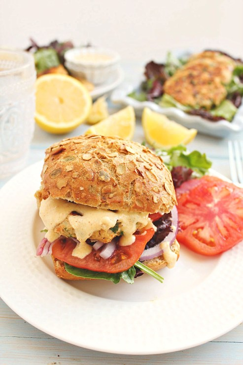 Honey and Figs Salmon Tuna Burger