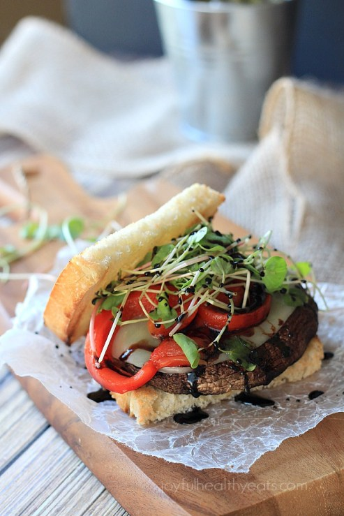 Joyful Healthy Eats Portobello with Balsamic