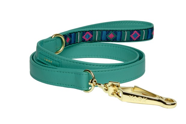 Dakota Leash_turquoise