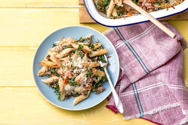 Lasagna Baked Penne with Kale and Mozzarella | SpryLiving.com