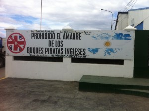 "Funny sign about ""British pirates""."