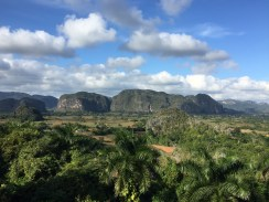 The panorama of the Viñales area, a couple of hours drive from Havana