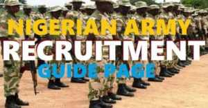 Nigerian Army Recruitment 2018/2019 | Latest News