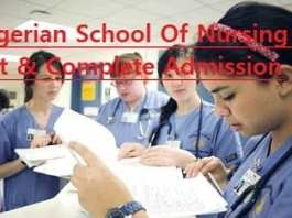 Nigerian School Of Nursing | List & Complete Admission Guide 2018