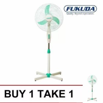"Fukuda SF164XS 16"""" Banana Blade Plastic Stand Fan (Green) Buy 1Take 1"