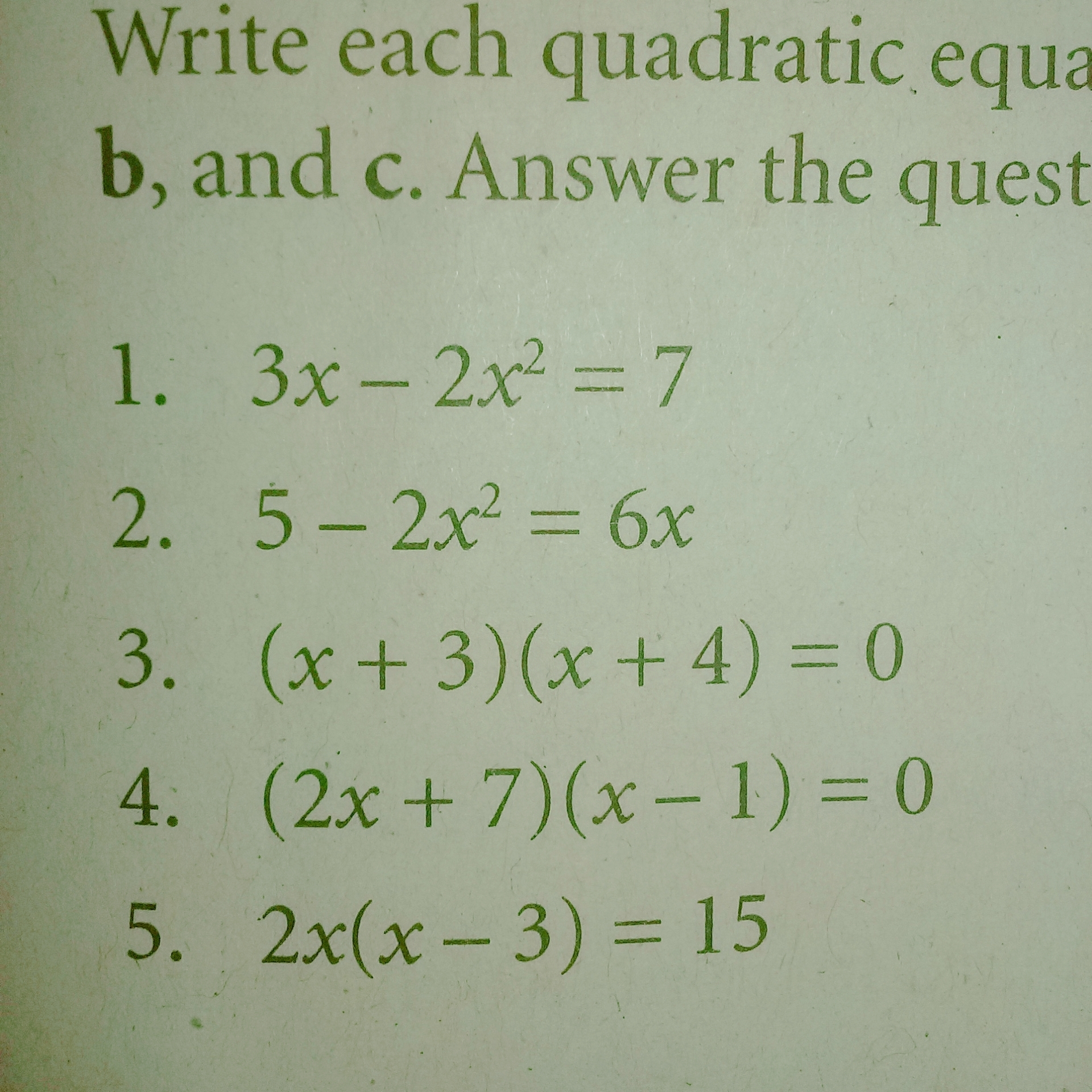 How To Write A Math Equation In Standard Form