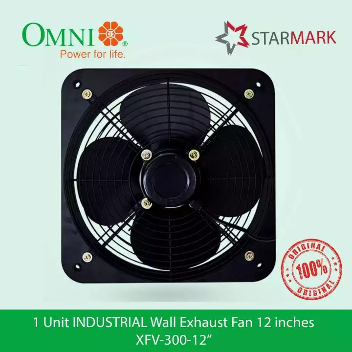 omni industrial wall exhaust fan 12 inches inch xfv 300 12 xfv 300 12 xfv 300 xfv300 xfv 300 industrial wall mounted genuine and original
