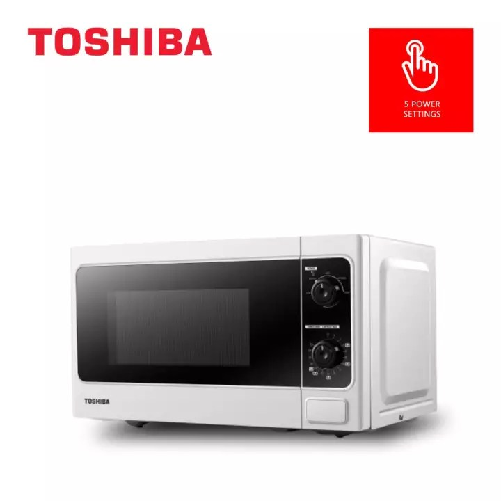 toshiba manual microwave oven 20 l with 5 microwave power levels cooking end signal and weight time defrost mm mm20p wh ph