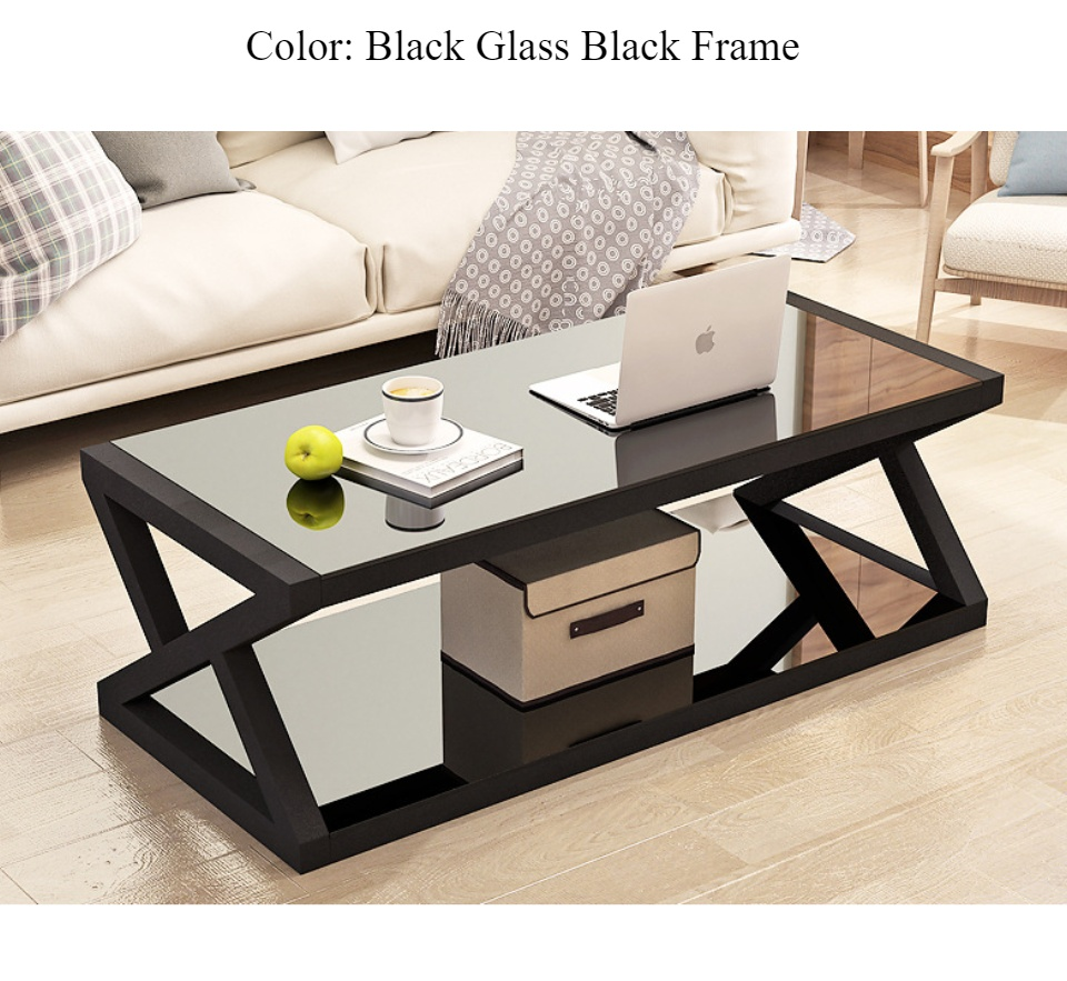 elite coffee table metal frame center table tempered glass top center table z design