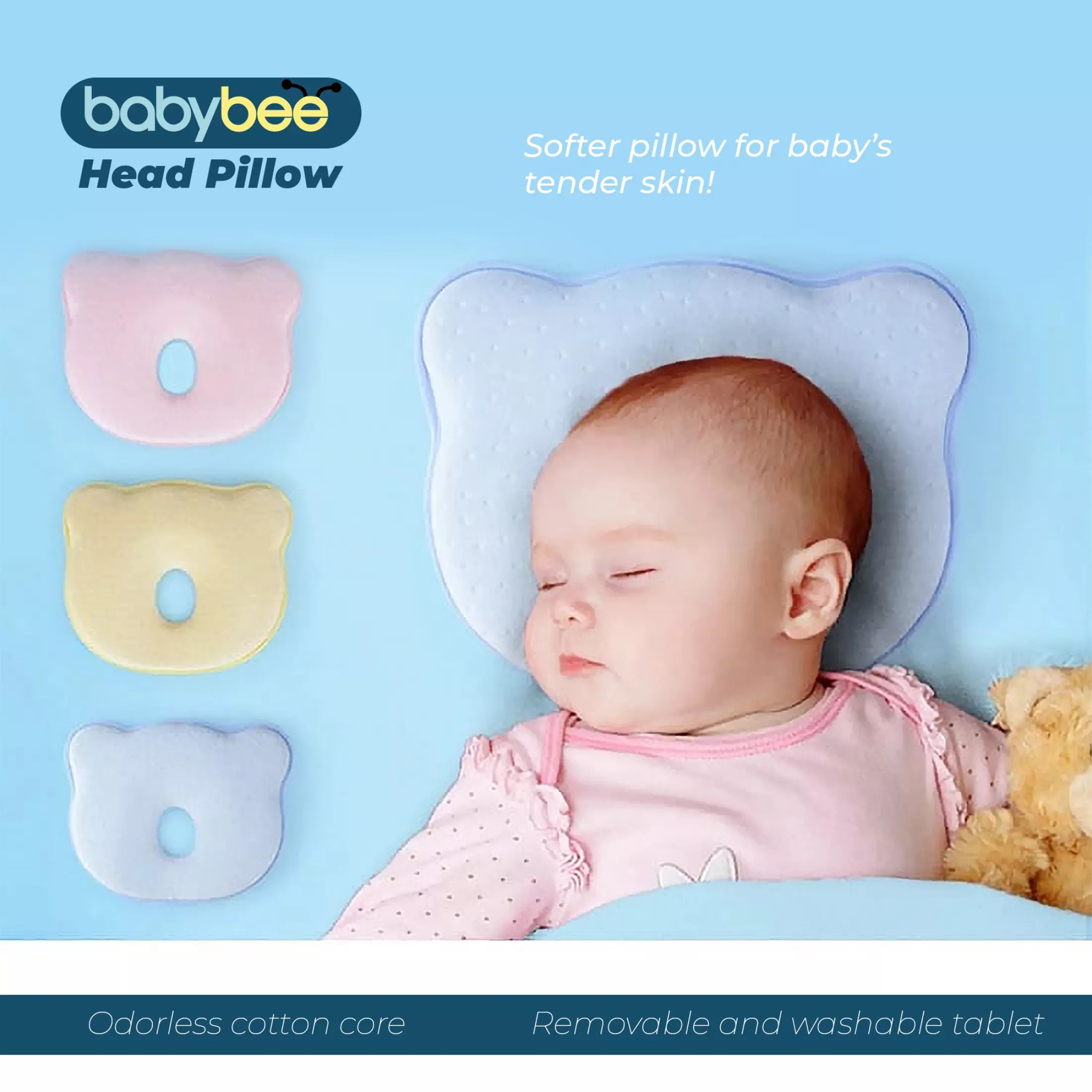 baby pillow newborn baby head shaping pillow memory foam pillow flat head syndrome prevention baby pillow for plagiocephaly 100 cotton breathable